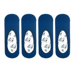 pencil footies 4-pack blauw