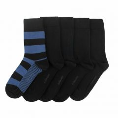 essential 5-pack block & stripe multi