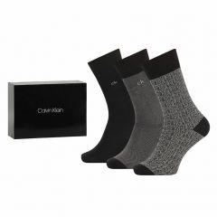 ensley 3-pack dress logo crew giftbox zwart & grijs