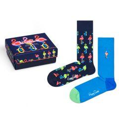 flamingo giftbox 2-pack blauw