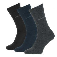 uni 3-pack zwart / blauw / grijs