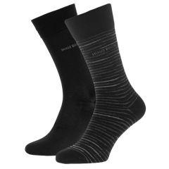stripes logo 2-pack zwart