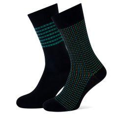 carlo cotton 2-pack zwart & groen