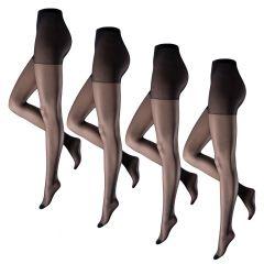 panty 4-pack miss 15 zwart