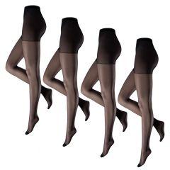panty 4-pack miss 20 zwart