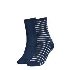 dames small stripe 2-pack blauw
