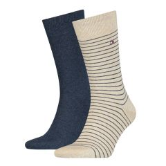 small stripe 2-pack blauw & beige II