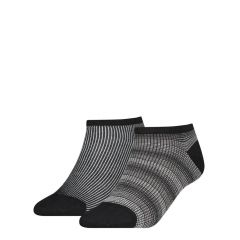 dames sneaker gradient check 2-pack zwart