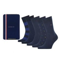 giftbox 5-pack tin stripe blauw